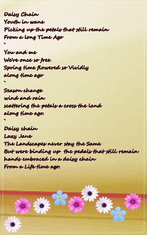 Daisy Chain ... Poems About Daisy Flowers